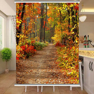 Season decoration background map autumn forest falling leaves illustration