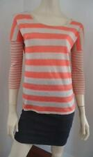 Striped Linen Knit Tops for Women
