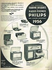 C- Publicité Advertising 1955 Tourne Disque Et Radio-Phonos Philips