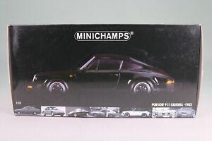 LE962 MINICHAMPS 100063020 Voiture 1/18 Porsche 911 Carrera coupé 1983 noire