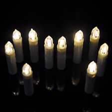 Christmas Tree Tear Candle LED Home Wedding Birthday Battery Operated RC 10 Pcs