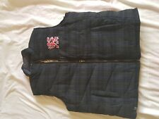 MENS BNWT PEPE JEANS GREEN AND BLUE CHECK DOWN FILLED REVERSIBLE GILET SIZE XXL