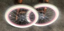 Pink 48 Spoke Rims Bitex Hubs ACS Chromoly Freewheel Freestyle BMX Haro/GT/hutch
