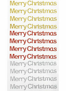 Self Adhesive 10cm Glitter Silver/Red/Gold Merry Christmas Embellishments