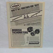 NORRIS CAMS & MOROSO TACHOMETERS VINTAGE 1976 ADVERTISING MAGAZINE AD