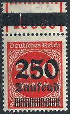 Ziffer im Kreis MiNr. 296 OPD Erfurt vom Walzenoberrand 1'11'1