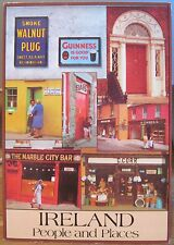 Irish Postcard IRELAND PEOPLE AND PLACES Multiview Pubs An Post John Hinde 120
