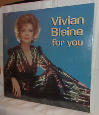 VIVIAN BLAINE FOR YOU Sealed 1983 AEI LP Guys and Dolls Cabaret Act Benefit AIDS