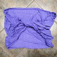 Lululemon Heathered Purple Vinyasa Infinity Scarf Drawcord Soft Rulu EUC