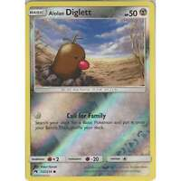 Pokemon TCG: Alolan Diglett - 122/214 - Common Reverse Holo Card - Lost Thunder