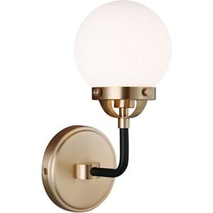 Sea Gull Lighting Cafe 1 LightSconce, 3.5W, Bronze/Etched/White - 4187901EN-848