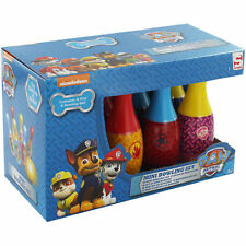 Kids childrens paw patrol mini bowling set jouet jeu cadeau de noël 6 broches & balle