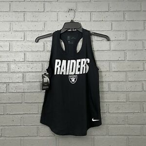 $35 Nike NFL Oakland Raiders Tank Top Womens Size Small S Racer Back Black