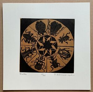 Dale DeArmond Color Wood Engraving - Beetles - 1998 10/25 Limited Edition Print