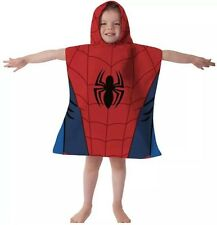MARVEL ULTIMATE SPIDER-MAN HOODED PONCHO KIDS CHILDRENS VELOUR BEACH BATH TOWEL
