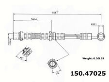 Brake Hydraulic Hose Front Right Centric 150.47025