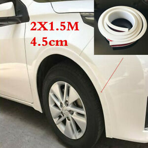 Car SUV Wheel Fender 2x 1.5m Moulding Flares Trim Rubber Protection Strip White