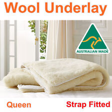 Aus Made Queen Size Luxury 100% Pure Wool Underlay/Underblanket/Mattress Topper
