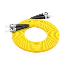 10Pcs 3 M ST-ST Duplex 9/125 Singlemode Fiber Optic Cable Patch Cord Wholesale