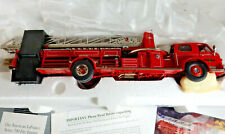Franklin Mint 1954 American LaFrance Series 700 Ladder Truck, Paperwork Die Cast