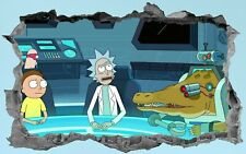 Rick And Morty,3D,Sticker,Decal,Bedroom,Wall Art,Mural