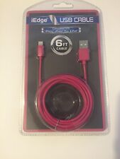 iEdge USB Cable 6ft iPhone Lightening Connecter Charging Cable