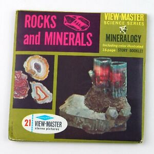 Vintage View-Master Reel Science Series Set B677 MINERALOGY Rocks & Minerals