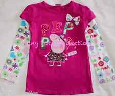 AUS Seller NEW BNWT with tag girls long sleeve peppa top tshirt shirt size 4