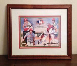 St Louis Cardinals Upper Deck Signed Autographed GIBSON LOU BROCK SCHOENDIENST