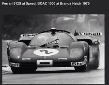 Ferrari 512S @ Speed BOAC 1000 At Brands Hatch 1970 .Out Of Print Car Poster!