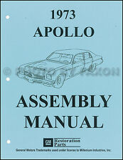 1973 buick apollo factory assembly manual 73