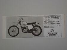 advertising Pubblicità 1973 MOTO MULLER GTC 50 COMPETIZIONE