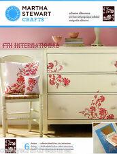Martha Stewart Exotic Blossoms ~ Adhesive Silkscreen Stencils #32931, Flowers