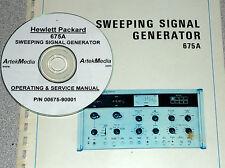 HP 675A Sweep Generator Operating & Service Manual