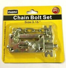 Security 2pc Chain Guard Bolt Lock Set Home Safety Protection W/ Screws New