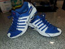 Mens Nike Shox NZ White / Royal Blue Size 10 2011