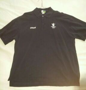 Olympic Shirt: Vancouver Olympic Shirt Whistler Olympic Shirt XL Navy Blue Polo