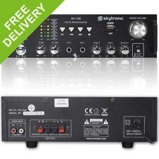 Skytronic AV-100 Stereo Karaoke MP3 USB LED Amplifier Home Audio Hifi Power Amp