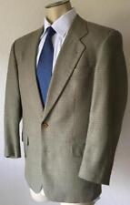 BOSS HUGO BOSS Men's Olive Grey Windowpane Wool Silk Blend Sport Jacket Size 40R