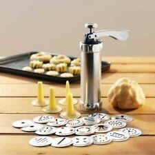 Biscuit Machine Maker Set with 20 Cookie Designs Plus 4 Icing Nozzles for Cakes