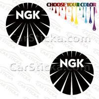 """2 of 5"""" NGK Spark Plugs /B aftermarket car bumper vinyl sticker decal die cut"""