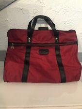 Vintage PIERRE CARDIN Red Black Garment Suit Bag / Luggage / Travel VERY RARE!!