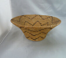 """Native American Weave Basket Bowl. Very Nice Design. Approx 4.25"""" Tall x 10"""" Dia"""