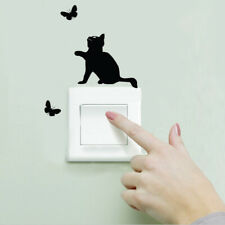 Wall Sticker Black Cat Butterfly Switch Stickers Wall Decal Mural Socket Paste