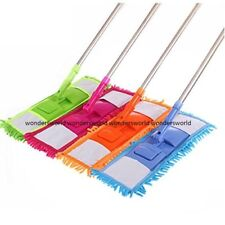 EXTENDABLE MICROFIBRE MOP CLEANER SWEEPER TILE WOODEN LAMINATE FLOOR WET DRY