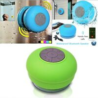 Waterproof Speaker, Mini Bluetooth Portable Speakers with Suction Cup