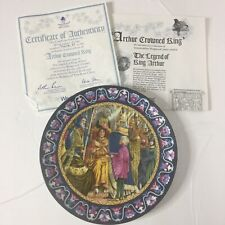 Wedgwood King Arthur Arthur Crowned King Collectors Plate Coa Included