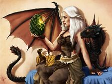 Khaleesi Dragons 24 x 14 Custom Yugioh Playmat Mtg Play Mat Pokemon