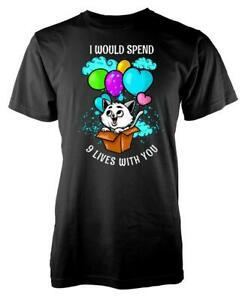 I Would Spend Nine Lives With You Valentines Kids T Shirt