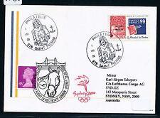 67830) LH Olympiade SF London - Sydney 23.8.2000, card St.Pierre